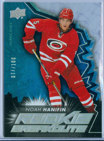 NOAH HANIFAN 2015-16 UPPER DECK RC ROOKIE BREAKOUTS SP/100
