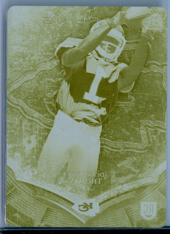 De'ANTHONY THOMAS 2014 BOWMAN STERLING RC ROOKIE 1/1 YELLOW PRINTING PLATE SP/1