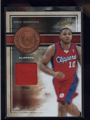 ERIC GORDON 2009/10 PANINI ABSOLUTE HEROES PRIME GAME USED PATCH #09/10 AB9062