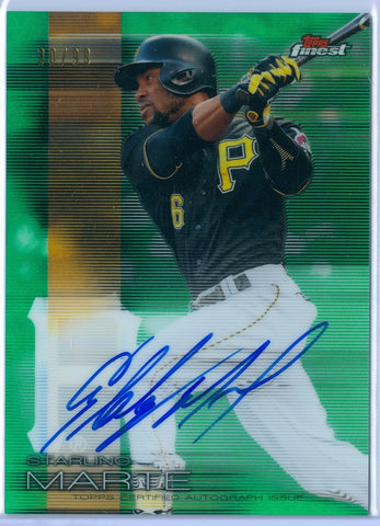 STARLING MARTE 2016 FINEST GREEN REFRACTOR AUTO AUTOGRAPH SP/99