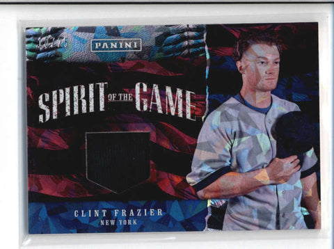 CLINT FRAZIER 2017 FATHERS DAY SPIRIT OF THE GAME CRACKED ICE HAT #10/25 AB9590