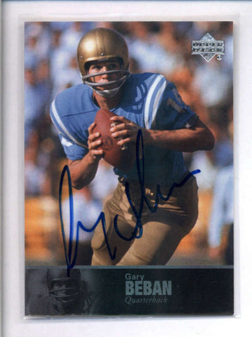 GARY BEBAN 2011 UPPER DECK UD COLLEGE LEGENDS UCLA BRUINS AUTOGRAPH AUTO AC2502