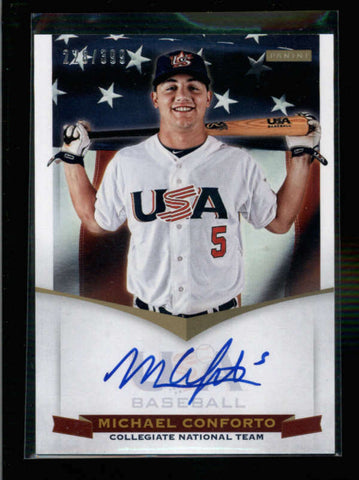 MICHAEL CONFORTO 2012 PANINI TEAM USA ON CARD AUTOGRAPH AUTO #228/399 AC1116