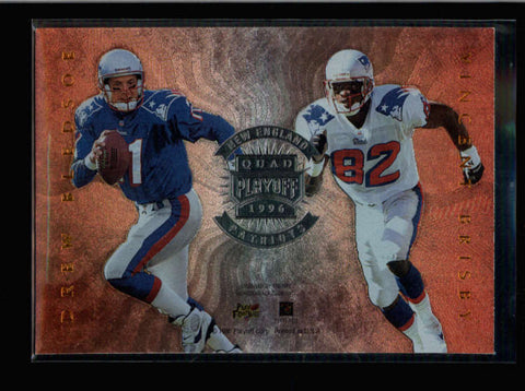 COATES / BLEDSOE / MEGGETT + 1996 PLAYOFF ABSOLUTE QUAD SERIES (PATRIOTS) AB9981