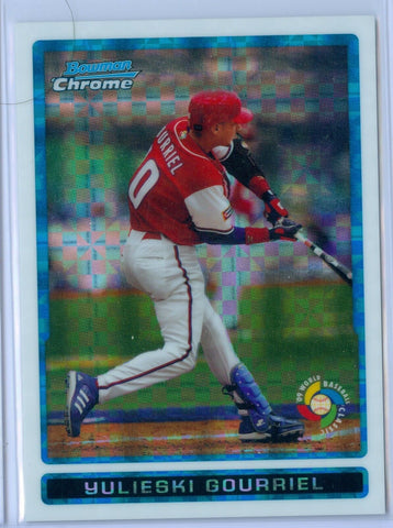YULIESKI GOURRIEL 2009 09 BOWMAN CHROME WBC PROSPECTS XFRACTOR RC ROOKIE SP/299