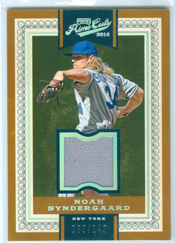 NOAH SYNDERGAARD 2016 PRIME CUTS #115 GAME USED WORN JERSEY #089/149 AB9476