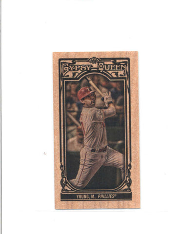 MICHAEL YOUNG 2013 TOPPS GYPSY QUEEN #298 RARE MINI WOOD PARALLEL #4/5 AB9522