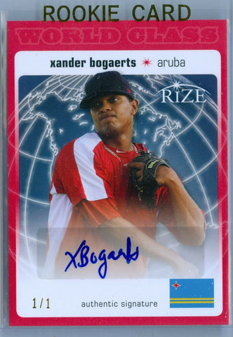 XANDER BOGAERTS 2012 LEAF RIZE WORLD CLASS 1/1 RC ROOKIE AUTO AUTOGRAPH SP/1