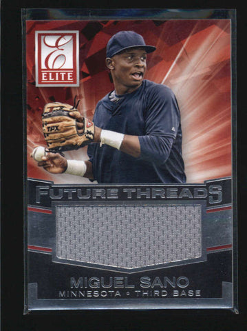 MIGUEL SANO 2015 PANINI ELITE FUTURE THREADS #16 JUMBO USED JERSEY ROOKIE AB5865