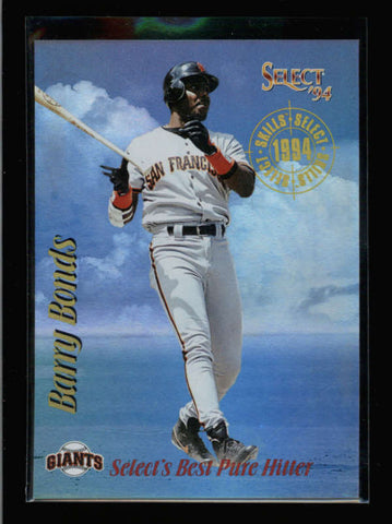 BARRY BONDS 1994 PINNACLE SELECT #SK6 SKILLS SELECT AC2540