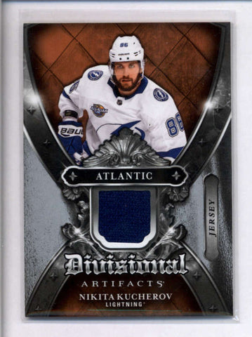 NIKITA KUCHEROV 2018/19 UPPER DECK ARTIFACTS DIVISIONAL GAME USED JERSEY AC2467