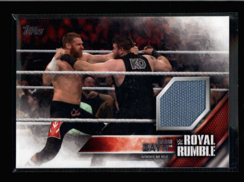 ROYAL RUMBLE 2016 TOPPS EVENT USED MAT RELIC FROM 1/24/2016 #165/399 AC113
