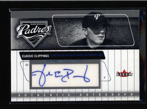 JAKE PEAVY 2005 FLEER CLASSIC CLIPPINGS DIAMOND SIGNINGS AUTOGRAPH AUTO AC582
