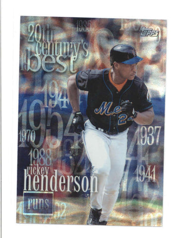 RICKEY HENDERSON 2000 TOPPS #CB6 20TH CENTURY BEST SEQUENTIAL #0245/2103 AB9799