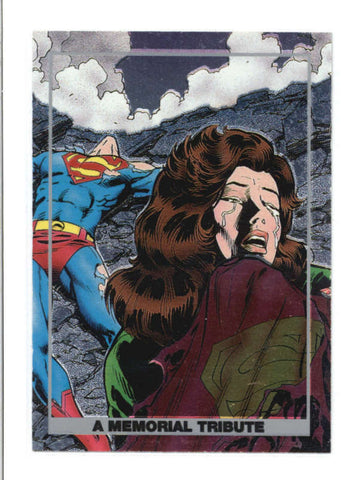 A MEMORIAL TRIBUTE 1992 DOOMSDAY THE DEATH OF A SUPERMAN CARD #S4 AB9723