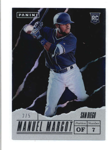 MANUEL MARGOT 2017 PANINI FATHERS DAY #69 LAVA FLOW ROOKIE RC #2/5 AB9544