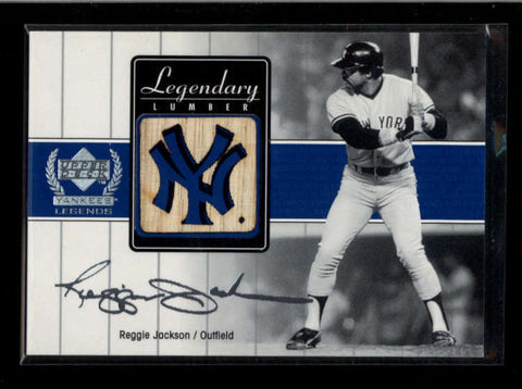 REGGIE JACKSON 2000 UD YANKEES LEGENDS LEGENDARY LUMBER GAME USED BAT AC2225
