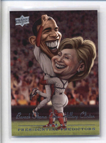 BARACK OBAMA/ HILLARY CLINTON 2008 UPPER DECK RUNNING MATE PREDICTORS AB9209