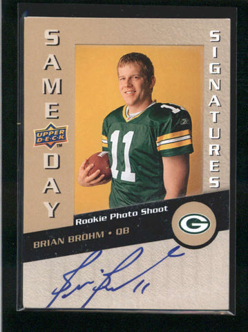 BRIAN BROHM 2008 UD SAME DAY SIGNATURES ROOKIE PHOTO SHOOT AUTOGRAPH AUTO AB9881