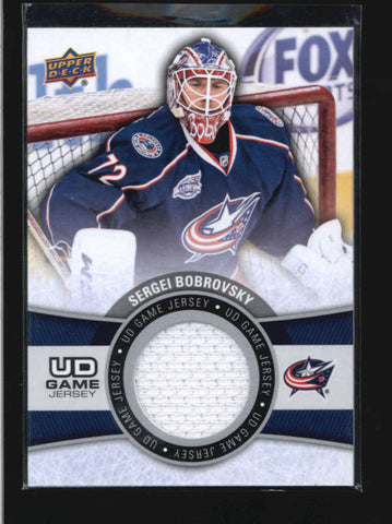 SERGEI BOBROVSKY 2015/16 15/16 UPPER DECK UD GAME USED WORN JERSEY RELIC AB9630
