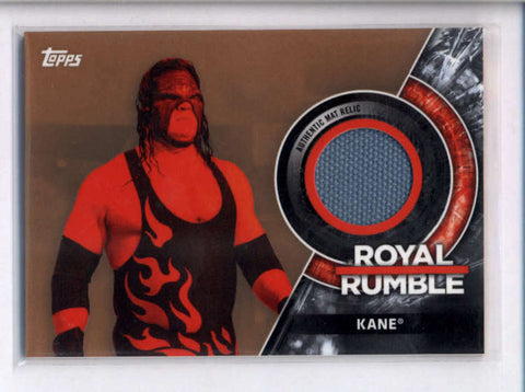 KANE 2018 TOPPS WWE ROYAL RUMBLE BRONZE EVENT USED MAT RELIC #072/199 AC2481