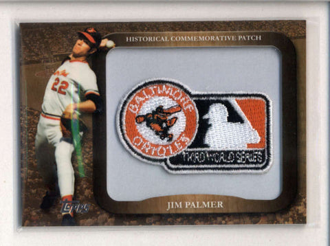JIM PALMER 2009 TOPPS 1970 MLB WORLD SERIES COMMEMORATIVE PATCH AC2564
