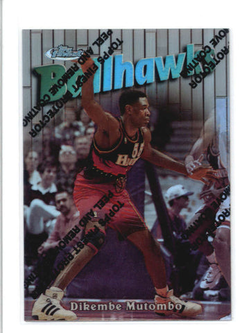 DIKEMBE MUTOMBO 1997/98 TOPPS FINEST #123 SILVER REFRACTOR #0462/1090 AB9357