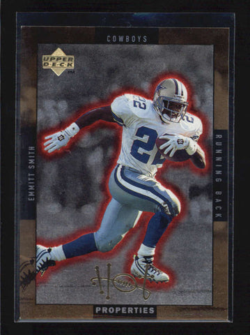 EMMITT SMITH / ERRICT RHETT 1998 UPPER DECK HOT PROPERTIES GOLD PARALLEL AB6315