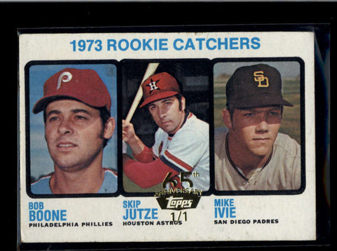 1973 ROOKIE CATCHERS BOB BOONE 2016 TOPPS 65TH BUYBACK GOLD STAMPED 1/1 AB8503