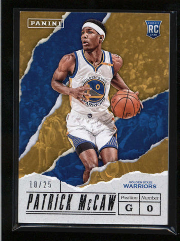 PATRCK McCAW 2017 PANINI FATHERS DAY #57 THICK STOCK ROOKIE RC #10/25 AB9418