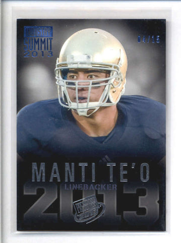 MANTI TEO 2013 PRESS PASS INDUSTRY SUMMIT ROOKIE RC #04/15 AB8994