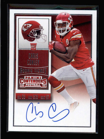 CHRIS CONLEY 2015 CONTENDERS #207 ROOKIE TICKET AUTOGRAPH AUTO RC AC2589