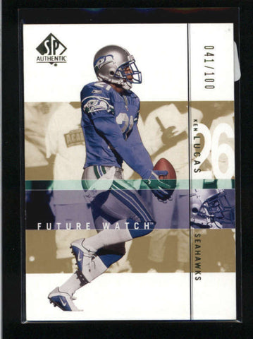 KEN LUCAS 2001 SP AUTHENTIC #174 FUTURE WATCH GOLD ROOKIE PARALLEL #/100 AB9264