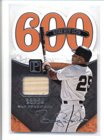 BARRY BONDS 2016 PANINI PANTHEON 600 HR CLUB DIE-CUT GAME JERSEY #044/199 AB9470