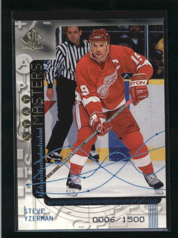 STEVE YZERMAN 1998/99 98/99 SP AUTHENTIC #SO23 STAT MASTERS #0006/1500 AB9164