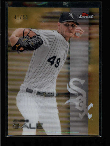 CHRIS SALE 2016 TOPPS FINEST #40 GOLD REFRACTOR PARALLEL #41/50 AC847