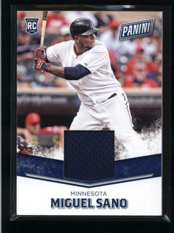 MIGUEL SANO 2016 PANINI FATHER'S DAY #3 ROOKIE GAME USED WORN JERSEY  AB