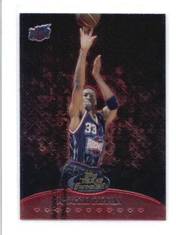 SCOTTIE PIPPEN 2000/01 00/01 TOPPS #TF19 TEAM FINEST RED #378/500 AB9373