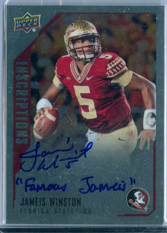 JAMEIS WINSTON 2015 UPPER DECK INSCRIPTIONS ROOKIE AUTO AUTOGRAPH SP