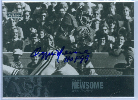 OZZIE NEWSOME 2011 UPPER DECK LEGENDS AUTO AUTOGRAPH SP