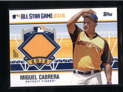 MIGUEL CABRERA 2016 TOPPS ALL-STAR GAME USED WORN GAME JERSEY AB9600