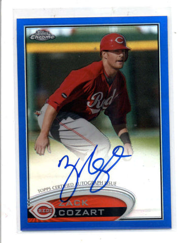 ZACK COZART 2012 TOPPS CHROME BLUE REFRACTOR ROOKIE AUTOGRAPH AUTO #/199 AC1068