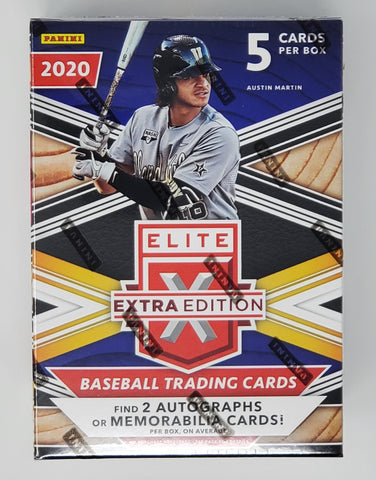 2020 Panini Elite Extra Edition Blaster Box Find 2 Autographs or Memorabilia Cards