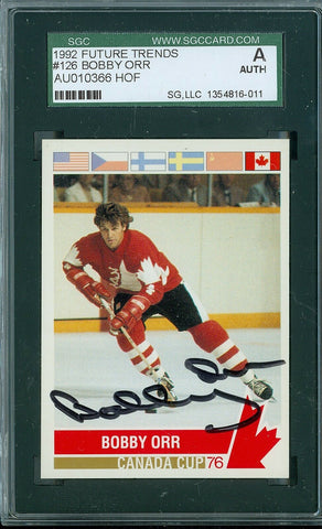 BOBBY ORR 1992 92 FUTURE TRENDS CANADA CUP SGC AUTHENTIC AUTO AUTOGRAPH SP