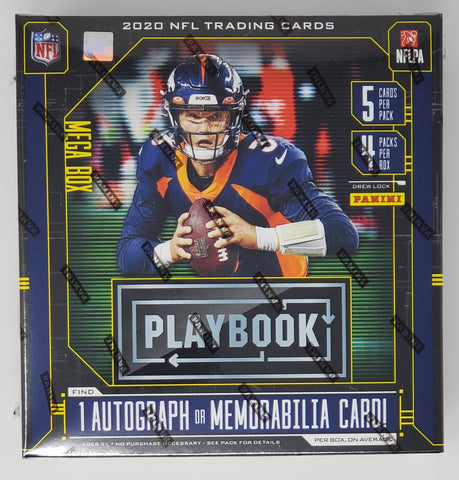 2020 Panini Playbook Football MEGA Box 1 Autograph or Memorabilia Card Per Box