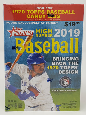 2019 Topps Heritage High Number Baseball Blaster Box