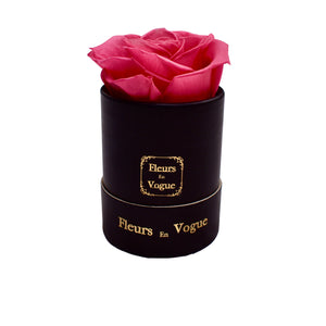 Single Rose Round - Hot Pink