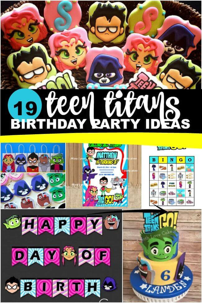 19 Teen Titans Birthday Party Ideas by Spaceshipsandlaserbeams.com!