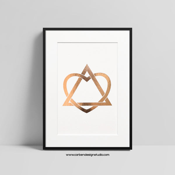 ADOPTION FOIL PRINT: Available in Silver, Gold or Rose Gold