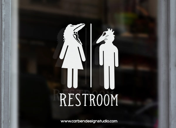 BARBARA & ADAM RESTROOM DECAL